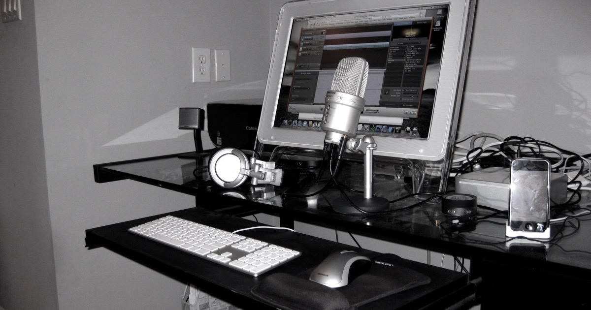 how i created a podcast studio for less than 150. Black Bedroom Furniture Sets. Home Design Ideas