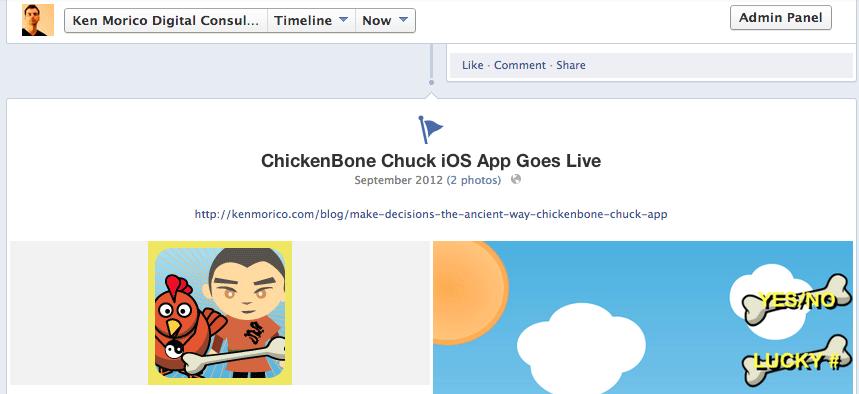 facebook page timetime milestone
