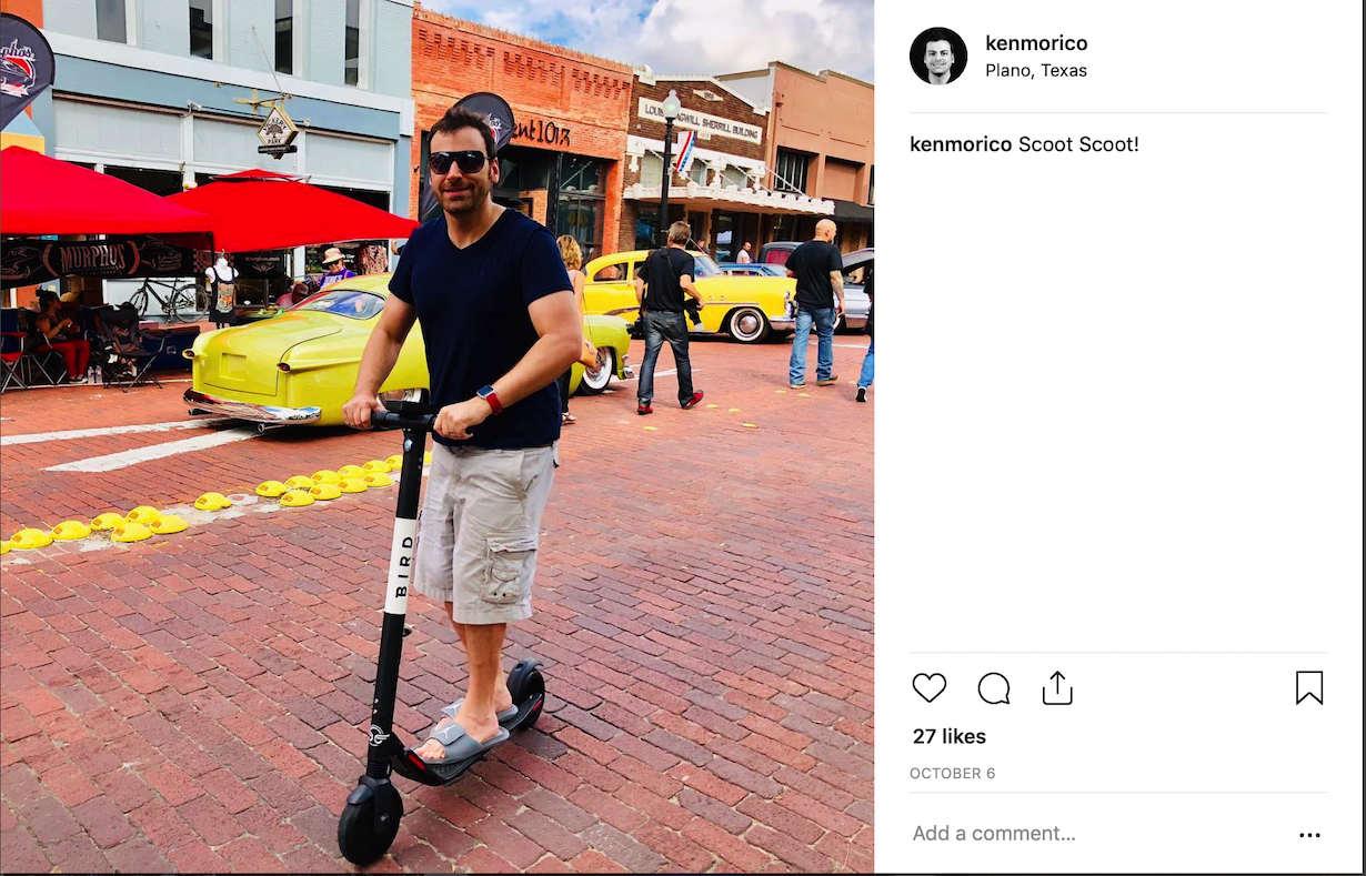 Instagram Ken on Scooter